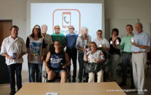 Gruppe der ersten Tester des Pilotbetriebes von NotrufPlus